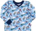 Пижама (футболка с длинными рукавами + штаны) Бемби ПЖ41 92 см Голубо-синяя (13041011537.481) - изображение 2