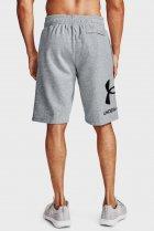 Мужские серые шорты UA Rival FLC Big Logo Shorts Under Armour M 1357118-011 - изображение 2