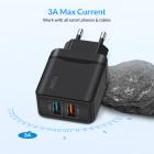 Сетевое зарядное устройство для телефона, смартфона Topk Quick Charge 3.0 |2USB, 18W, 3A| Черный - изображение 6