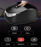 Масажер Антистрес для ніг терапевтичний Jinkairui Z9 3 режими Компресія Підігрів Вібрація - зображення 4