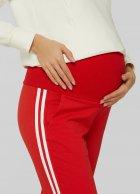 Спортивні штани з лампасами для вагітних Lullababе Lublin Червоний M - зображення 4