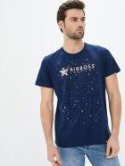 Мужская футболка Airboss Nasa logo space XL Dark blue (2000000001142_A) - изображение 1
