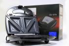 Електричний прижимний гриль вафельниця сендвічниця мультимейкер Crownberg CB 1075 700-800 Вт - зображення 1