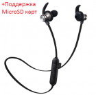 Наушники MP3 беспроводные вакуумные для спорта с микрофоном с поддержкой MicroSD флешки гарнитура Bluetooth HEONYIRRY M22 Черный - изображение 2