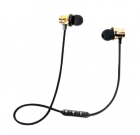Наушники беспроводные вакуумные с микрофоном гарнитура Bluetooth H21 Золотой - изображение 2