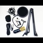Конденсаторний студійний мікрофон M-800 PRO-MIC USB зі стійкою і вітрозахистом Чорний - зображення 4