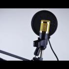 Конденсаторний студійний мікрофон M-800 PRO-MIC USB зі стійкою і вітрозахистом Чорний - зображення 5