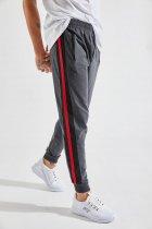Чоловічий спортивні штани зі смугами Zafoni 7961 XL Темно-серый - изображение 1