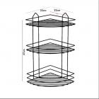 Полочка TEKNO-TEL угловая трехъярусная BK003 Eco сатин - изображение 3