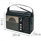Цифровое мини радио GOLON RX-BT660T + BLUETOOTH Радиоприемник всеволновой портативный с телескопической антенной с USB mp3, WMA беспроводной FM/AM сетевой и аккумуляторный - изображение 3