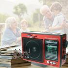 Цифрове міні радіо GOLON RX-006UAR Радіоприймач всехвильовий портативний з телескопічною антеною з USB mp3, WMA бездротовий FM/AM мережевий і акумуляторний - зображення 1
