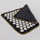 Набір килимок акупунктурний масажний + подушка Аплікатор Кузнєцова OSPORT (n-0002) Чорно-білий - зображення 3