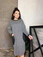 Платье DNKA р15262 50-52 Серое (2000000582191_ELF) - изображение 4