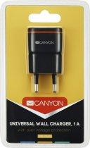 Мережевий зарядний пристрій Canyon 1USB 1A Black (CNE-CHA01B) - зображення 4