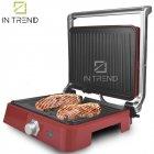 Контактный Электрический гриль DSP KB1049 1800 W прижимной от сети - электро-гриль со съёмным поддоном для приготовления мяса стейков овощей и рыбы с антипригарным покрытием, Красный - изображение 3