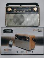 Радіо акумуляторне з Bluetooth і пультом управління Kemai Retro Gold MD-505-BT - зображення 4