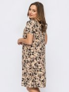 Платье Dressa 53763 46 Бежевое (2000405739268_D) - изображение 2
