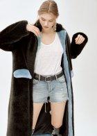 Пальто зі штучного хутра molliolli ANTHRO LUNGO COAT, S, чорне, MW9WCT03X - изображение 2
