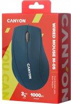 Мышь Canyon M-05 USB Blue (CNE-CMS05BL) - изображение 4