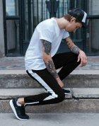 Спортивные штаны с белой полоской (лампасом) Тур Рокки (Rocky) Черный M - изображение 2
