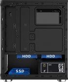 Корпус 1stPlayer X2-3R1 Color LED Black без БП - изображение 4