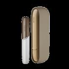 Набір Силіконовий чохол Ребристий + Бічна панель + Ковпачок для IQOS (Айкос) 3/3 DUO (Дуо) Бежевий Металік - зображення 1