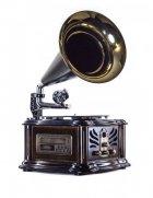 Ретро музичний центр, програвач і радіо Грамофон Daklin Лондон (вініл/USB/FM/CD) Натуральний дуб - зображення 3