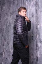 Куртка ZIBSTUDIO полоса комбинированная 6XL Чёрная (6157374) - изображение 3