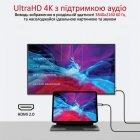 Кабель Promate HDMI-PD60 USB-C/HDMI 4K 60 Hz 1.8 м Grey (hdmi-pd60.grey) - зображення 2