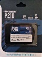 """Накопичувач SSD Patriot P210 512GB 2.5"""" SATAIII TLC (P210S512G25) - зображення 3"""
