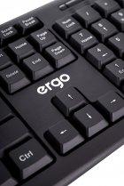 Клавіатура дротова Ergo К-110 USB Black - зображення 7