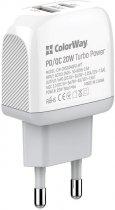 Сетевое зарядное устройство ColorWay (Type-C PD + USB QC3.0) 3.0А 20W White (CW-CHS024QPD-WT) - изображение 5