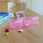 Органайзер для таблеток MVM, 7 дней PC-03 T пластиковый прозрачный - изображение 6
