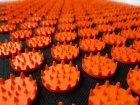 Коврик массажный Igora с аппликатором Кузнецова Air Mini 32 х 21 см Оранжевые фишки (FS-105) - изображение 2