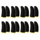 Напальчники для игр на смартфоне мобильные напальчники 16 штук Чёрные Без бренда - изображение 1