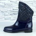 Сапоги резиновые женские силиконовые W-shoes 115b синие на флисе 39 р. (24,5 см) b-477 - изображение 3