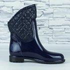 Сапоги резиновые женские силиконовые W-shoes 115b синие на флисе 37 р. (23 см) b-477 - изображение 4