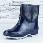 Полусапожки ботинки резиновые W-shoes 111-b утепленные непромокаемые синие 40р (25,5 см) b-608 - изображение 3