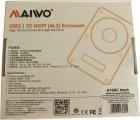 Зовнішня кишеня Maiwo для M.2 SSD (NGFF) SATA — USB 3.1 Type-C (K16NC black) - зображення 12