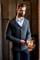 Мужской кардиган-пиджак SVTR 392 48 Темно-серый (SVTR 392_2) - изображение 2
