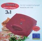 Гриль 3 в 1 бутербродница вафельница Wimpex Wx1056 750 Вт Red (00524) - изображение 5
