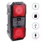 """Портативна бездротова колонка акумуляторна Bluetooth акустична система 2х4"""" з пультом USB FM 2х5 Вт KTS 1048 Червона - зображення 1"""