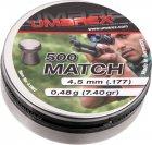 Свинцовые пули Umarex Match 0.48 г калибр 4.5 (.177) 500 шт (4.1967) - изображение 1