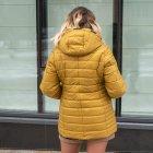 Женская весенняя куртка большого размера UF-fashion Натали-UF 50 горчичный - изображение 3