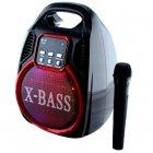 Колонка Golon RX 820 с микрофоном - портативная Bluetooth колонка с радио и светомузыкой - зображення 3