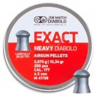 Кулі пневм JSB Diablo Exact Heavy 4,52 мм 0,670 гр. (200 шт/уп) - зображення 1
