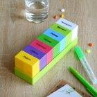 Органайзер для таблеток, витаминов, БАДов на 7 дней, пластиковый зеленый MVM PC-02 GREEN - изображение 5