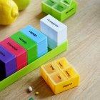 Органайзер для таблеток, витаминов, БАДов на 7 дней, пластиковый зеленый MVM PC-02 GREEN - изображение 6
