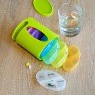Органайзер для таблеток, витаминов, БАДов на 7 дней, пластиковый зеленый MVM PC-04 GREEN - изображение 6
