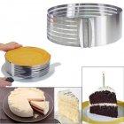 Форма-слайсер Kamille для бисквита регулируемая 24,5 - 30 см с ножом и подносом - зображення 2